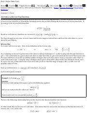 Calculus I - Derivatives of Inverse Trig Functions