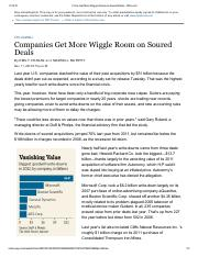 Session 5_Companies Get More Wiggle Room on Soured Deals - WSJ 20131111.pdf