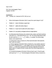 PHYS 381 Assignment 2 due Oct 2 2014