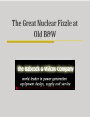 Great Nuclear Fizzle