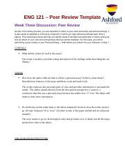 3 Pages Allen Week3 Discussion2 PeerReview