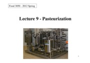 Food_Processing_L9-Pasteurization