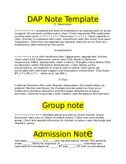 dap note template dap note template d description accepted and