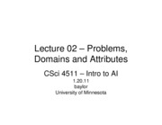 Lecture 02 - Problems, Domains, Attributes