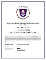 Cover page report electric