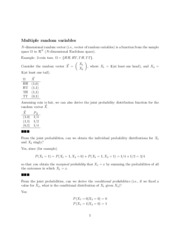 Multiple Random Variables