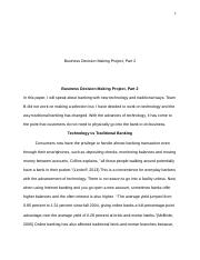 Business Decision Making Project, Part 2.docx