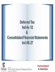 Consolidated FS and Deferred Tax.ppt