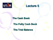 BA1 L5 Cash Book and Trial Balance