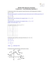 Solutions for Problem Set 1 (Relations & Functions)