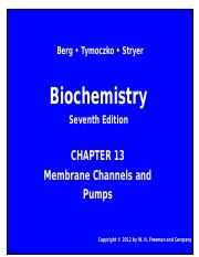 Chapter 13 Membrane Channels and Pumps