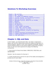 Oracle by Example Workshop-Solutions