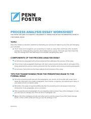 process analysis essay penn foster