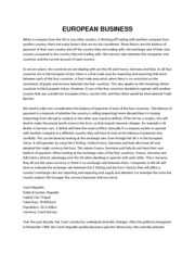 EUROPEAN BUSINESS (Research Report)