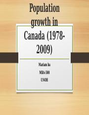 Population growth in Canada (1978-2009).pptx