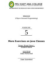 Lab_Exp_5 (More Exercises on Classes)