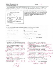 Worksheets Mole Conversion Worksheet With Answers mole conversions worksheet key
