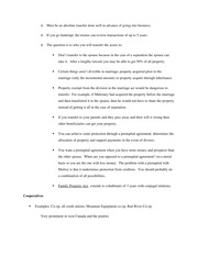 Family Property Act - Class Note