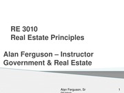 Government Role and Real Estate RE 3010