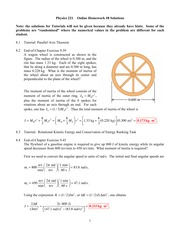 online homework solutions physics online homework  6 pages online homework 8 solutions