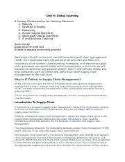 Unit 8 IT Supply Chain Mangement