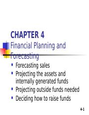 Financial Planning and Forcasting, Ch.4.ppt