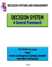 IME611 - 1.3 Decision Systems - General Framework