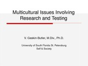 Multicultural Issues Involving Research and Testing_1