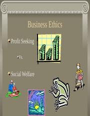 Ethics and Business Decision Making
