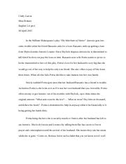 essay for mov