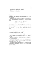 stochastic-calculus-solutions