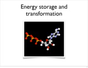 Energy store and Transformation