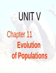 CH 11 The Evolution of Populations