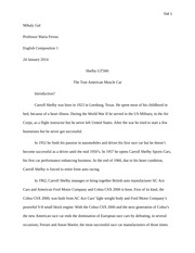Descriptive essay - first draft