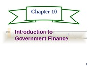 ch10 Introduction to Government Finance