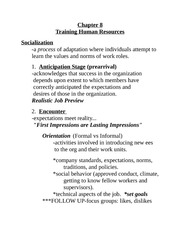 HR Strategic Training Notes