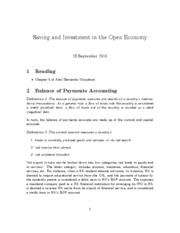 5. consumption and saving in the open economy
