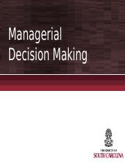 Chapter 9 - Decision Making