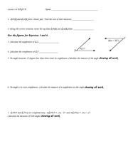 Complement Angles worksheet answer key - ∠ 3& ∠ 1 or ∠ 2 ...