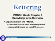 1.6.2 PMBOK Ch 3 - Knowledge Area Overview