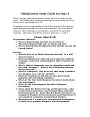 Globalization Study Guide 4
