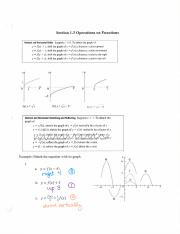 Section 1.3 Operations on Functions(1)