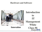 Class 06 - Hardware and Sofware Ecosystem-1