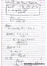 PreCal Binomial Theorem Notes
