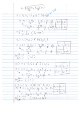 Homework M and Coordinate