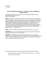 Brief_Asahi Metal industry v. Superor court of california.docx