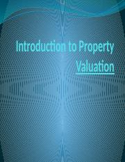 Introduction to Property Valuation.pptx