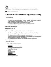 stat notes Lesson 8 Understanding Uncertainty.pdf