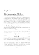 Lagrangian Method