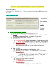 Week 7- Chapter 14 Pricing Concepts for Establishing Value.docx